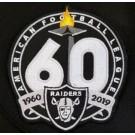 Oakland Raiders 60th Seasons Patch