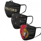 Ottawa Senators FOCO Cloth Face Covering Civil Masks 3 Pics