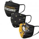 Pittsburgh Penguins FOCO Cloth Face Covering Civil Masks 3 Pics