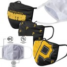Pittsburgh Pirates FOCO Cloth Face Covering Civil Masks 3 Pics