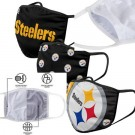 Pittsburgh Steelers FOCO Cloth Face Covering Civil Masks 3 Pics