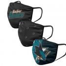 San Jose Sharks FOCO Cloth Face Covering Civil Masks 3 Pics