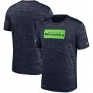 Seattle Seahawks Marled Stadium Heathered Printed T Shirt 200825