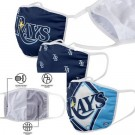 Tampa Bay Rays FOCO Cloth Face Covering Civil Masks 3 Pics