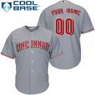 Toddler Cincinnati Reds Customized Gray Cool Base Jersey