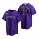 Toddler Colorado Rockies Customized Purple Alternate 2020 Cool Base Jersey