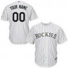 Toddler Colorado Rockies Customized White Stripes Cool Base Jersey