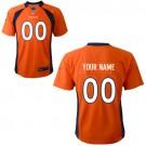 Toddler Denver Broncos Customized Game Orange Jersey