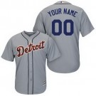 Toddler Detroit Tigers Customized Gray Cool Base Jersey