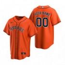 Toddler Houston Astros Customized Orange Alternate 2020 Cool Base Jersey