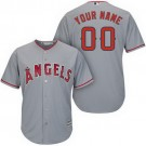 Toddler Los Angeles Angels Customized Gray Cool Base Jersey
