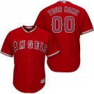 Toddler Los Angeles Angels Customized Red Cool Base Jersey