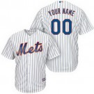 Toddler New York Mets Customized White Stripes Cool Base Jersey