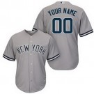 Toddler New York Yankees Customized Gray Cool Base Jersey