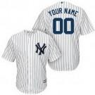 Toddler New York Yankees Customized White Stripes Cool Base Jersey