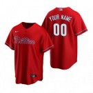 Toddler Philadelphia Phillies Customized Red Alternate 2020 Cool Base Jersey