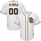 Toddler San Diego Padres Customized White Cool Base Jersey