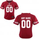 Toddler San Francisco 49ers Customized Game Red Jersey