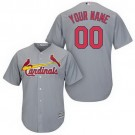 Toddler St Louis Cardinals Customized Gray Cool Base Jersey
