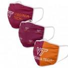 Virginia Tech Hokies FOCO Cloth Face Covering Civil Masks 3 Pics