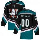 Women's Anaheim Ducks Customized Black Alternater Authentic Jersey