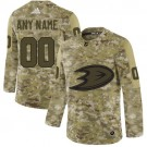 Women's Anaheim Ducks Customized Camo Authentic Jersey