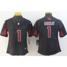 Women's Arizona Cardinals #1 Kyler Murray Limited Black Rush Color Jersey