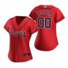 Women's Atlanta Braves Customized Red Alternate 2020 Cool Base Jersey