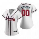 Women's Atlanta Braves Customized White 2020 Cool Base Jersey