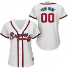 Women's Atlanta Braves Customized White Cool Base Jersey