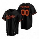 Women's Baltimore Orioles Customized Black Alternate 2020 Cool Base Jersey