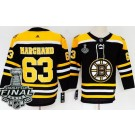Women's Boston Bruins #63 Brad Marchand Black 2019 Stanley Cup Finals Jersey
