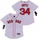 Women's Boston Red Sox #34 David Ortiz White 2020 Cool Base Jersey