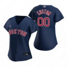 Women's Boston Red Sox Customized Navy Alternate 2020 Cool Base Jersey