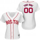 Women's Boston Red Sox Customized White Cool Base Jersey
