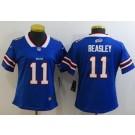 Women's Buffalo Bills #11 Cole Beasley Limited Blue Vapor Untouchable Jersey