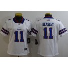 Women's Buffalo Bills #11 Cole Beasley Limited White Vapor Untouchable Jersey