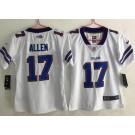 Women's Buffalo Bills #17 Josh Allen Limited White Vapor Untouchable Jersey