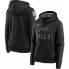 Women's Buffalo Bills Black 2020 Salute To Service Pullover Hoodie