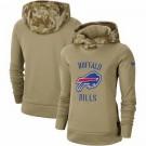 Women's Buffalo Bills Khaki 2019 Salute to Service Therma Printed Pullover Hoodie