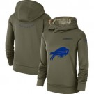 Women's Buffalo Bills Olive Salute To Service Printed Pullover Hoodie