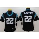 Women's Carolina Panthers #22 Christian McCaffrey Limited Black Vapor Untouchable Jersey