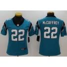 Women's Carolina Panthers #22 Christian McCaffrey Limited Blue Vapor Untouchable Jersey