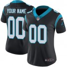 Women's Carolina Panthers Customized Limited Black Vapor Untouchable Jersey