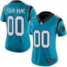 Women's Carolina Panthers Customized Limited Blue Vapor Untouchable Jersey