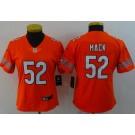 Women's Chicago Bears #52 Khalil Mack Limited Orange Vapor Untouchable Jersey