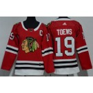 Women's Chicago Blackhawks #19 Jonathan Toews Red Jersey