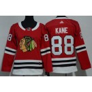 Women's Chicago Blackhawks #88 Patrick Kane Red Jersey