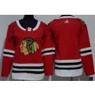 Women's Chicago Blackhawks Blank Red Jersey