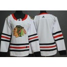 Women's Chicago Blackhawks Blank White Jersey